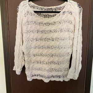 Knit cream/white colored top
